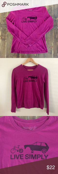 ▪️SOLD▪️Women's Patagonia Live Simply Long Sleeve Women's Patagonia Live Simply Long Sleeve Tee - size M. Deep Magenta in color, long sleeve. Excellent condition, no rips, snags or stains. Patagonia Tops Tees - Long Sleeve