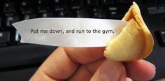Way to ruin everything, fortune cookie. I want to remain blissfully in denial. Jerk.