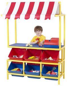 Pretend Play Market Stand