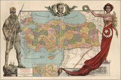 1927 Yılına ait bir Türkiye haritası (A 1927 map of the provinces of Turkey) Republic Of Turkey, Map Background, Old Maps, Ottoman Empire, Illustrations, Historical Maps, All Poster, World History, Istanbul