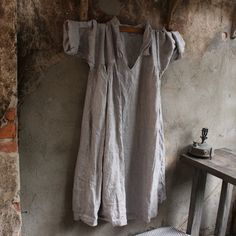 Soft Grey Linen Dress
