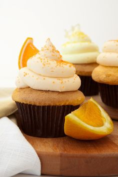 Dreamy Orange Cupcakes Recipe with Marshmallow Cream Topping and Orange Buttercream Frosting