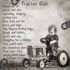Tractor Ride... idea for a little boys room :-)