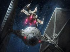 X-wing vs. TIE fighter by Aidan Wilson