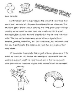 Leprechaun Trap letter