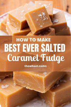 Salted Caramel Fudge Recipe Video Instructions The WHOot Caramel Au Nutella, Salted Caramel Desserts, Fondant Au Caramel, Nutella Fudge, Caramel Recipes, Candy Recipes, Baking Recipes, Dessert Recipes, Salted Caramels