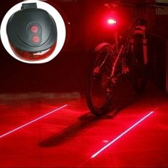Ds 5 LED Taillight with Laser Lane Lines- Be seen on your next bike ride.