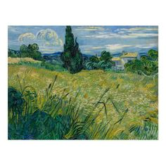 Art Print Repro 10x8 In Field with Poppies Van Gogh