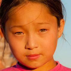 Kazakhstan girl, green eyes