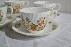 Vintage Aynsley Cottage Garden Cup and Saucer di PanchosPorch
