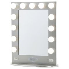 Broadway Lighted Vanity Mirror - Gloss Silver Vanity Girl Hollywood http://www.amazon.com/dp/B017ISLBDG/ref=cm_sw_r_pi_dp_dJJOwb1K06XTH