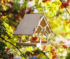 Bird feederwooden bird feedergarden van UrbanDecoWood op Etsy