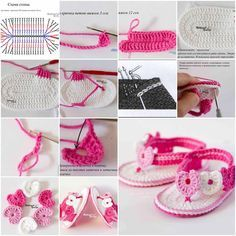 DIY Adorable Crochet Baby Sandals  https://www.facebook.com/icreativeideas