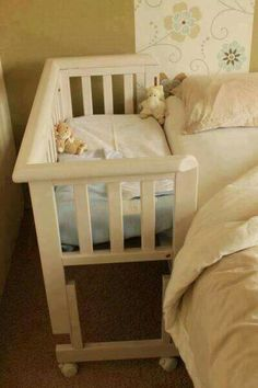 Crib attached to bed