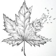 maple leaf for tattoo design. - Blackwork geometric maple leaf for tattoo design. -Blackwork geometric maple leaf for tattoo design. - Blackwork geometric maple leaf for tattoo design. - Maple Leaf Tattoo by ilwolhongdam Free Canadian Maple Leaf C Temporary Tattoo Designs, Flower Tattoo Designs, Flower Tattoos, Blackwork, Wolf Tattoo Design, Design Tattoos, Small Meaningful Tattoos, Small Tattoos, Herbst Tattoo