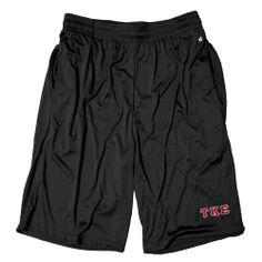 Campus Classics - Teke Black Pocketed Performance Shorts: $23.95