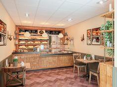 Барная стойка в интерьере пекарни «Хлебница»