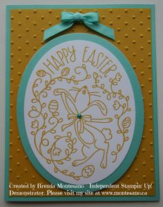 Handmade Card using Happy Easter Bunny stamp set. Created by Brenda Montesano - Independent Stampin' Up! Demonstrator. Please visit my site at www.montesano.ca