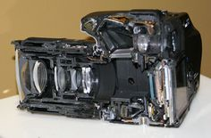 Sony Alpha DSLR Sliced Down the Middle