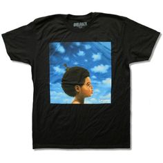 "Bravado Adult Drake ""Nothing Was The Same"" Black T-Shirt ($20) ❤ liked on Polyvore featuring tops, t-shirts, shirts, outfits, black crop top, black tee, graphic tees, black t shirt and henley tee"