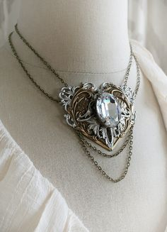 MY HEART romantic Victorian steampunk bridal by TheVictorianGarden, $82.00