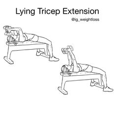 Primary muscle group: Triceps ✌️Secondary: Chest, Shoulders Equipment: Dumbbells