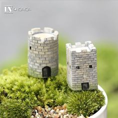 Mini Artificial Ancient City Wall Micro Fairy Garden Sculpture Figurines Miniatures/Terrarium Decor Ornaments DIY Accessories