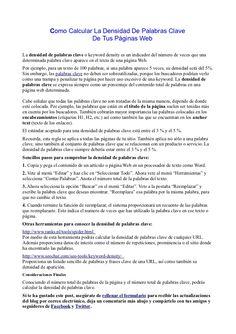 Como Calcular La Densidad De Palabras Clave De Tus Páginas Web by Fernando Amaro via Slideshare