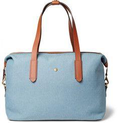 Mismo - Leather-Trimmed Canvas Holdall Bag|MR PORTER