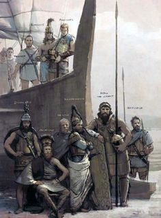 """""""The Achaean elite brought many assets to the endeavour against Troy"""" - the main characters in the Iliad - art by José Daniel Cabrera Peña & Rocío Espín Piñar Mycenaean, Minoan, Sumerian, Greek History, Ancient History, Military Art, Military History, Achilles And Patroclus, Wie Zeichnet Man Manga"""