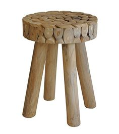 World Modern Design IZ-1002-24 PETRA Stool, Natural