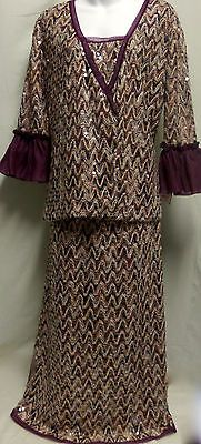 MISSONI-Maxi-Skirt-Blouse-Long-Sleeve-Top-2pc-Outfit-Set-Retro-Sheer-Sequin-10