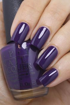 nails - OPI Nein! Nein! Nein! OK Fine! and Bring On The Bling - grape fizz nails