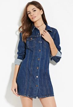Contemporary Life in Progress Denim Dress | Forever 21 #forever21denim