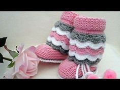 Please visit our website for Crochet Boot Socks, Crochet Baby Boots, Knit Baby Booties, Crochet Slippers, Knitted Baby, Knitting Baby Girl, Knitting For Kids, Baby Girl Patterns, Baby Knitting Patterns