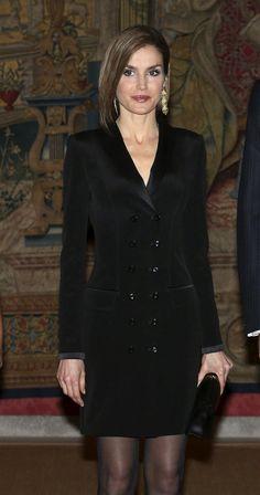 Doña Letizia en la recepción ofrecida por el Presidente de Colombia en el Palacio de El Pardo. 03.03.2015