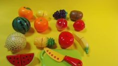 cutting velcro toy fruits 과일자르기 영어단어 배우기