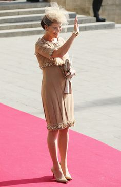 HSH Princess Caroline of Monaco at the Wedding ff Prince Guillaume of Luxembourg - 2012
