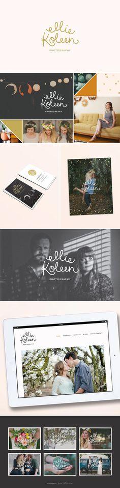 My wedding photographer. She's amazing! Ellie Koleen Photography — June Letters Studiologo / branding / design / logotype / type / graphic design