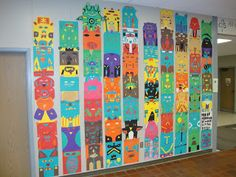 This would make a great totem pole warm up activity, focusing on stylising.