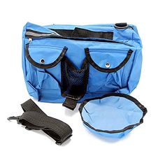RD Lane Outdoor Canvas Adjustable Dog Accessory Backpack Hound Travel Camping Hiking Saddle Bag Rucksack for Medium and Large Dog Blue * To view further for this item, visit the image link.(This is an Amazon affiliate link and I receive a commission for the sales)