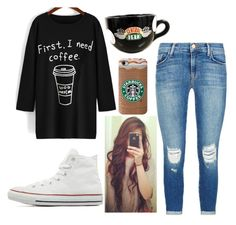 Untitled #620 by alwaysapotter-head on Polyvore featuring J Brand and Converse
