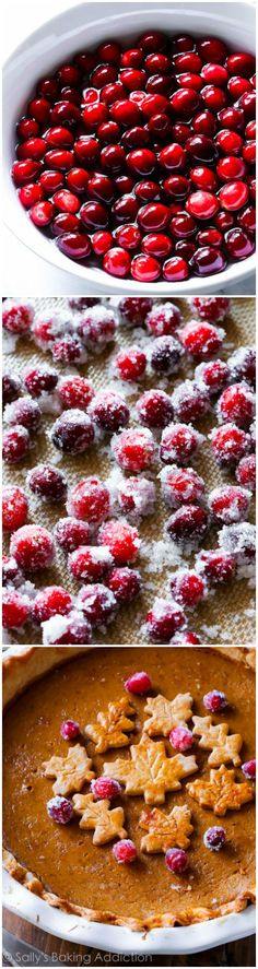Sugared Cranberries for your holiday baking and pumpkin pie-- these are so simple!