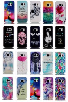 1xFor Huawei Samsung Cute Painted Trendy Thin Style PC Hard Back Case Cover Skin