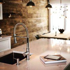 Aquabrass  Zest kitchen faucet in design by Espace Bois. #Aquabrass #Zest #KitchenFaucet