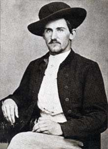 Archie Clement, founder of the James-Younger Gang. Killed by militia in 1866, shortly after the gang's first or second peace time daylight bank robbery.