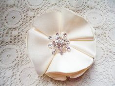 bridal flower clip by BevlovesElla on Etsy, $12.50