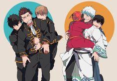 The brother figures! Anime Angel, Anime Demon, Manga Anime, Anime Art, Manhwa, Kamui Gintama, Gintama Wallpaper, Silver Samurai, Otaku