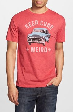 Headline Shirts 'Keep Cuba Weird' Graphic T-Shirt