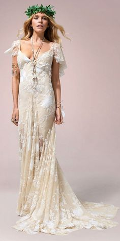Boho Wedding Dresses From Fabulous Nomadic Love Collection ❤ See more: http://www.weddingforward.com/boho-wedding-dresses/ #weddings
